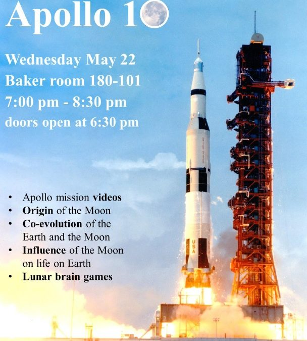 Apollo 10 special event Wednesday May 22 at Cal Poly