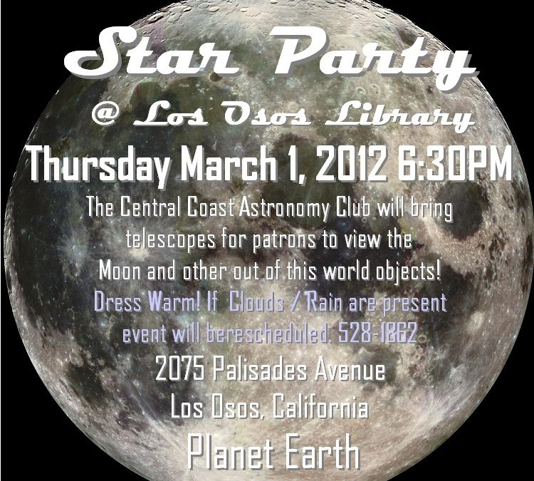 Los Osos Star Party on March 1